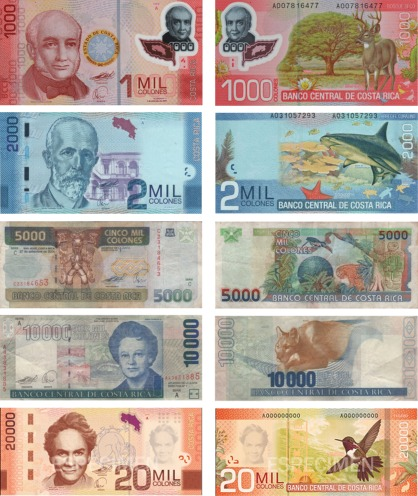 Costa Rican Currency Looks Like Picture